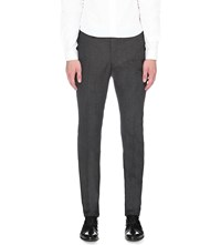 Sandro Micro Check Tapered Wool Blend Trousers Gris