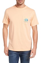Southern Tide Men's Caribbean Fish Graphic T Shirt Peach Fizz