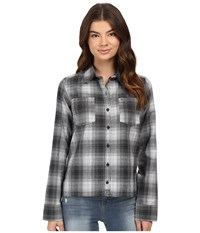 Hurley Dri Fit Wilson Flannel White P Women's Long Sleeve Button Up Pink