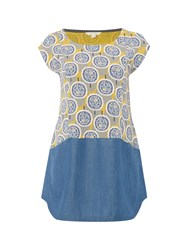 White Stuff Pebble Shore Jersey Tunic Yellow