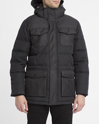 Pyrenex Grey And Black Sirocco 4 Pocket Removable Hood Dual Fabric Parka