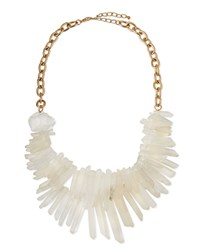Two Strand Prism Bib Necklace White Panacea Red