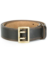 Dsquared2 Rectangular Buckle Belt Brown