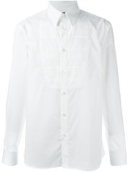 Diesel Black Gold Bib Detail Shirt White