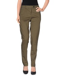 Aquascutum London Aquascutum Trousers Casual Trousers Women Military Green