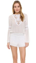 Young Fabulous And Broke Lise Romper White