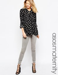 Asos Maternity Ridley Ankle Grazer Jeans In Bay Grey