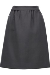 Dolce And Gabbana Wool Crepe Mini Skirt Anthracite