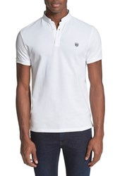 Men's The Kooples Sport Pipe Trim Band Collar Pique Polo