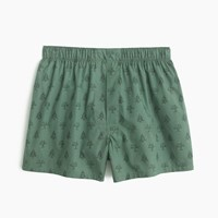 J.Crew Winter Tree Boxers Berkshire Forest