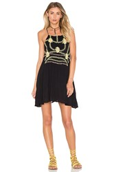Piper Sumatra Flare Mini Dress Black