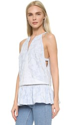 Thakoon Open Side Tank Blue