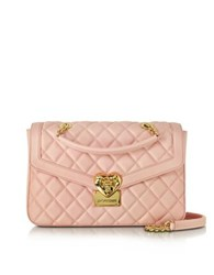 Love Moschino Heart Quilted Eco Leather Shoulder Bag Pink