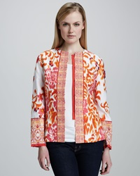 Indikka Mixed Print Jacquard Jacket Large 12 14