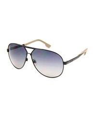 Diesel 61Mm Aviator Sunglasses Black Smoke