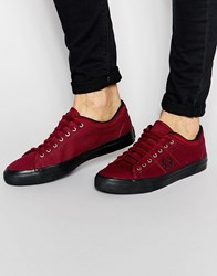 Fred Perry Kendrick Tipped Cuff Canvas Plimsolls Red