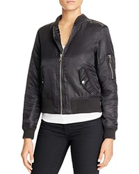 Fillmore Sateen Bomber Jacket Black
