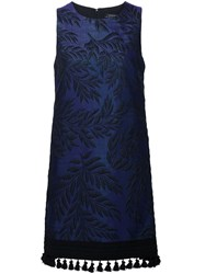 Andrew Gn Embroidered Dress Pink And Purple
