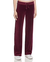 Juicy Couture Black Label Original Flare Velour Sweatpants In Burgundy 100 Bloomingdale's Exclusive