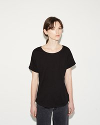 Organic By John Patrick Roll Sleeve Tee Black