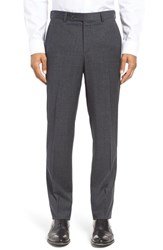 Ted Baker Men's London 'Jefferson' Trim Fit Houndstooth Wool Trousers Charcoal