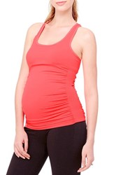 Women's Ingrid And Isabel Seamless Active Maternity Tank Neon Poppy