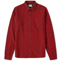 Nudie Jeans Henry Flannel Shirt Red