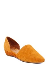 Sixtyseven Erin Leather D'orsay Flat Orange
