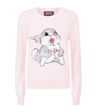 Markus Lupfer Grace Sequin Thumper Sweater Female Pink