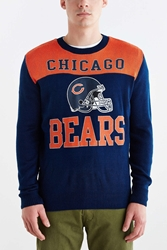 Junk Food Nfl Chicago Bears Crew Neck Sweater Navy