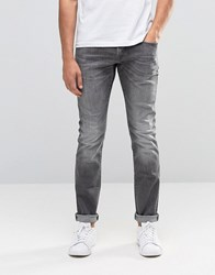 Esprit Skinny Fit Jeans In Mid Grey Washed Grey