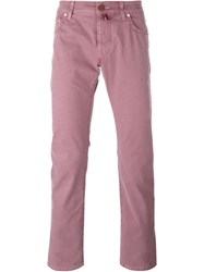 Jacob Cohen Slim Fit Chinos Pink And Purple