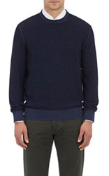 Fioroni Men's Cashmere Wool Reversible Sweater Light Blue