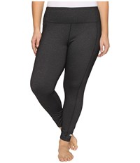 Marika Plus Size High Rise Tummy Control Leggings Heather Black Women's Workout
