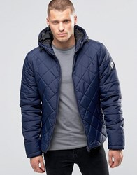 Blend Of America Hooded Quilted Jacket Navy Navy