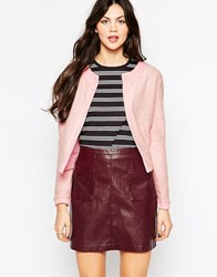 Wal G Cardigan With Contrast Trim Pink