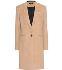 Rag And Bone Emmet Crombie Wool Blend Coat Beige