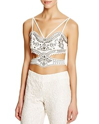 The Jetset Diaries Castello Cutout Bustier Ivory