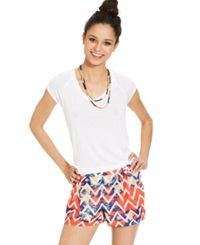 Jolt Juniors' Tribal Print Soft Shorts Ethnic