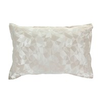 Christy Mosaic Taupe Oxford Pillowcase Set Of 2