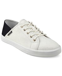 Tommy Hilfiger Flip Lace Up Sneakers Women's Shoes Natural White