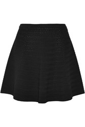 Theory Rortie Textured Stretch Knit Mini Skirt Black