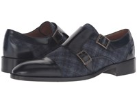 Etro Cocooning Double Monk Strap Blue Multi Black Men's Monkstrap Shoes
