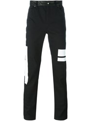 Mcq By Alexander Mcqueen Patched Straight Leg Trousers Black