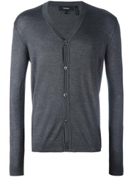 Theory V Neck Cardigan Grey