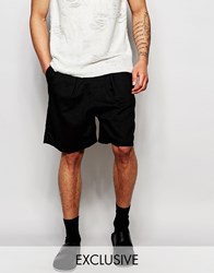 Unplugged Museum Shorts In Linen Black