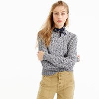 J.Crew Marled Cable Crewneck Sweater