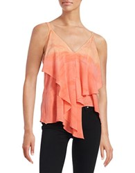 Red Haute Ruffled Cami Top Coral