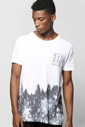 Boohoo Faded Sublimation T Shirt White