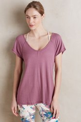 Anthropologie Waffled Swing Tee Mauve